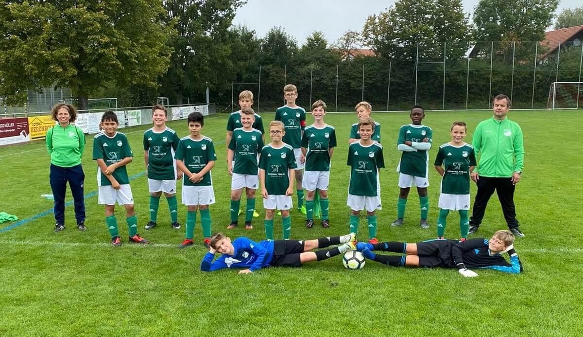 Mannschaftsfoto der D-Jugend des SV Oberteuringen