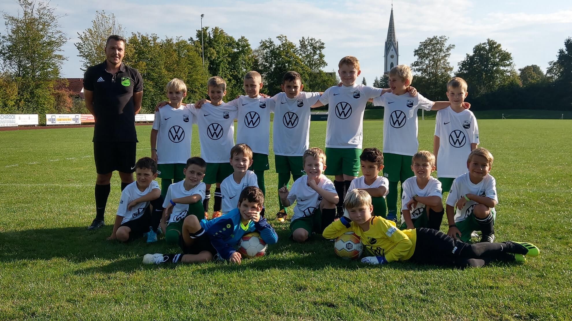 Mannschaftsbild der F-Jugend SV Oberteuringen